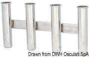 Wall mounting rod holder AISI 316 Nr. 3 rods - Artnr: 41.167.80 9