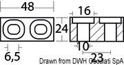 Plate anode Suzuki 55/225 HP - Code 43.272.30 8
