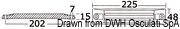 Płyta 75/225 HP - Plate anode HONDA 75/225 HP - Kod. 43.424.07 5
