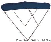 3-arc bimini high AISI316 Ø 22 mm 210/220 cm blue - Code 46.920.15 21