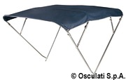4-arc bimini high AISI316 170/180 cm blue navy - Artnr: 46.921.20 14