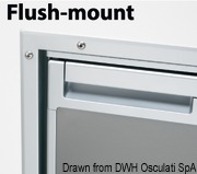 Flush mount frame for Coolmatic CR50S Inox fridge - Code 50.906.03 21