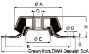 Antivibrationshalterung aus Stahl, verzinkt 350 kg - Art. 51.656.04 14