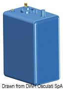 Zbiornik paliwa typu benzyna/ ropa naftowa z polietylenu siatkowego. - Pojemność l 114 - Kod. 52.036.10 34