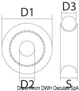 Delrinscheibe 34 mm f. Leine Ø 12 mm weiß - Art. 55.245.04 12