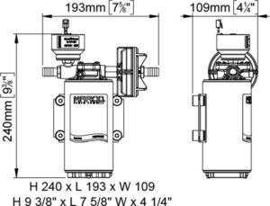 Marco UP10/E-BR 12/24V bronze gear pump with electronic pressure sensor 4.8 gpm - 18 l/min 20