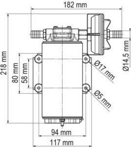 Marco UP10-XC Heavy duty pump 4.8 gpm - 18 l/min - AISI 316 L (24 Volt) 12