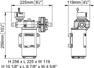 Marco UP14/E-BR 12/24V bronze gear pump with electronic pressure sensor 12.2 gpm - 46 l/min 20