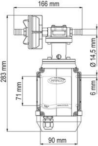 Marco UPX/AC Gear pump 2.6 gpm - 10 l/min - s.s. AISI 316 L (220 Volt) 8