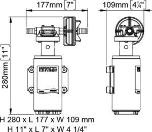 Marco UP10-XA Pumpe für Herbizide 18 l/min - AISI 316 L - EDPM Dichtungen (12 Volt) 13