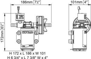 Marco UP3/E-BR 12/24V Elektronische Pumpe mit Bronzezahnräder 15 l/min 18