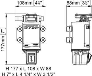 Marco UP3/OIL-R Ölpumpe mit integriertem on/off Schalter reversibel (12 Volt) 12