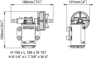 Marco UP3-PV Pumpe PTFE Zahnräder 15 l/min mit Rückschlagventil (24 Volt) 10