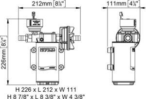 Marco UP6/E-BR 12/24V Elektronische Pumpe mit Bronzezahnräder 26 l/min 18
