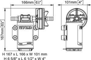 Marco UP8-P Pumpe für Dauerbelastung mit PTFE Zahnrädern 10 l/min (12 Volt) 10