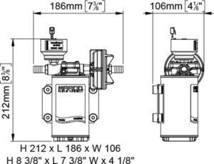 Marco UP9/E-BR 12/24V Elektronische Pumpe mit Bronzezahnräder 12 l/min 20