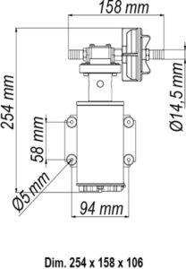 Marco UP9-HD Pumpe für Dauerbelastung mit Flansch 12 l/min (24 Volt) 13