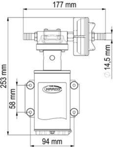 Marco UP9-XA Pumpe für Unkrautvernichtungsmittel 12 l/min - AISI 316 L - EPDM Dichtungen (24 Volt) 11